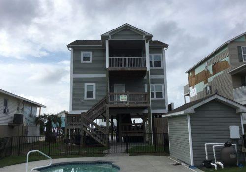 Back Angle Of Oak Island House
