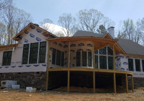 New Construction House with House Wrap