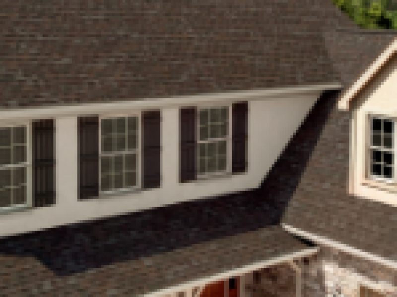Architectural view of asphalt shingles